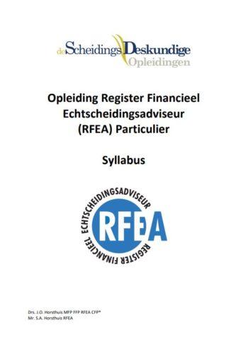 digitale Syllabus Register Financieel Echtscheidingsadviseur (RFEA) Particulier