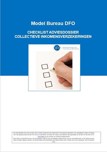 Checklist adviesdossier collectieve inkomensverzekeringen